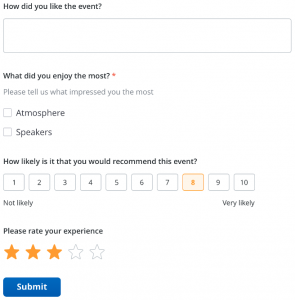 Feedback Umfrage
