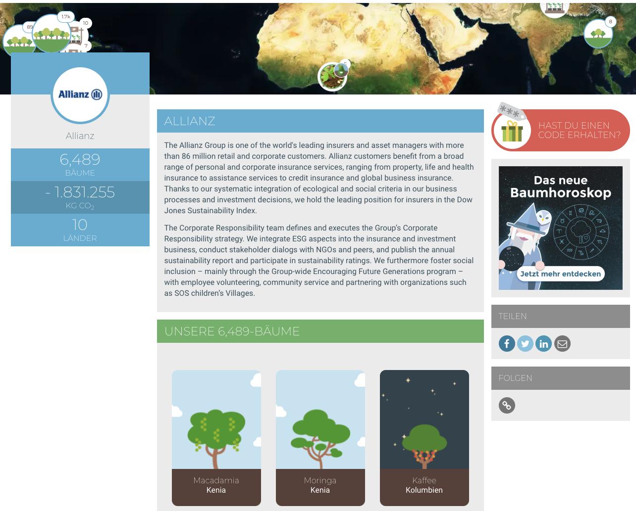 Nachhaltiges Event doo Treedom